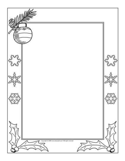 photograph relating to Printable Picture Frames 4x6 identified as Body Printables For Xmas - Xmas Printables