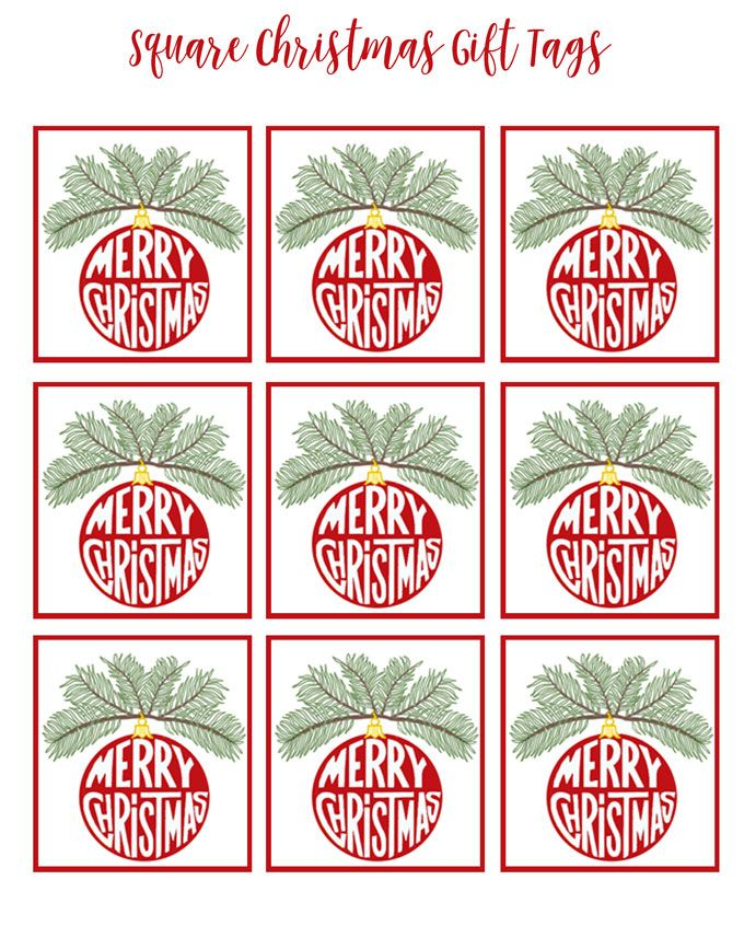 photograph relating to Free Printable Holiday Tags named Absolutely free Merry Xmas Printable Tags - Xmas Printables