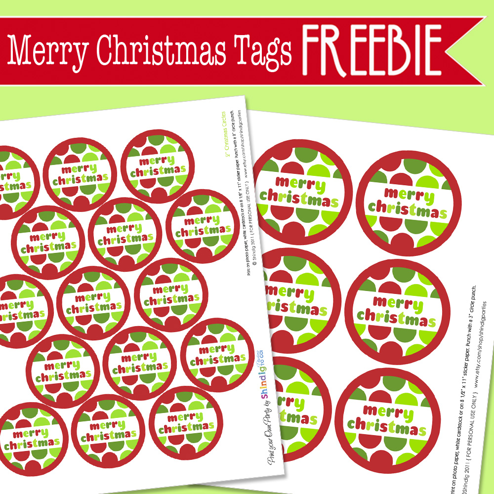 free merry christmas printable tags