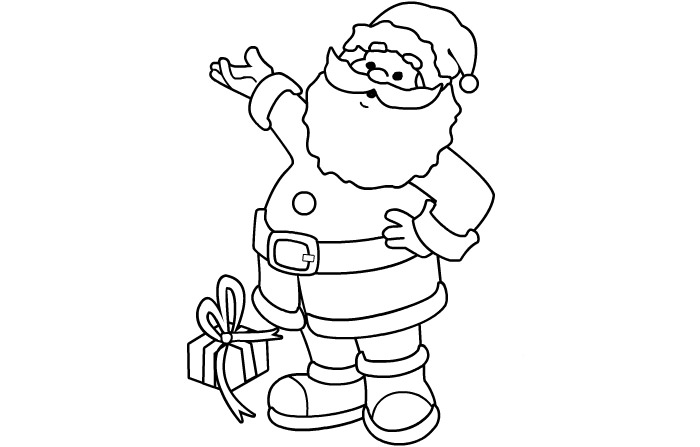 free pictures of santa claus to print