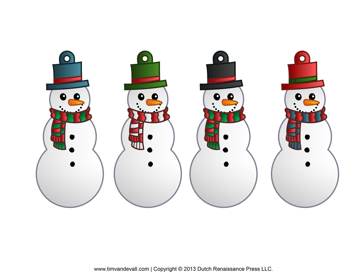 free printable christmas cutouts decorations