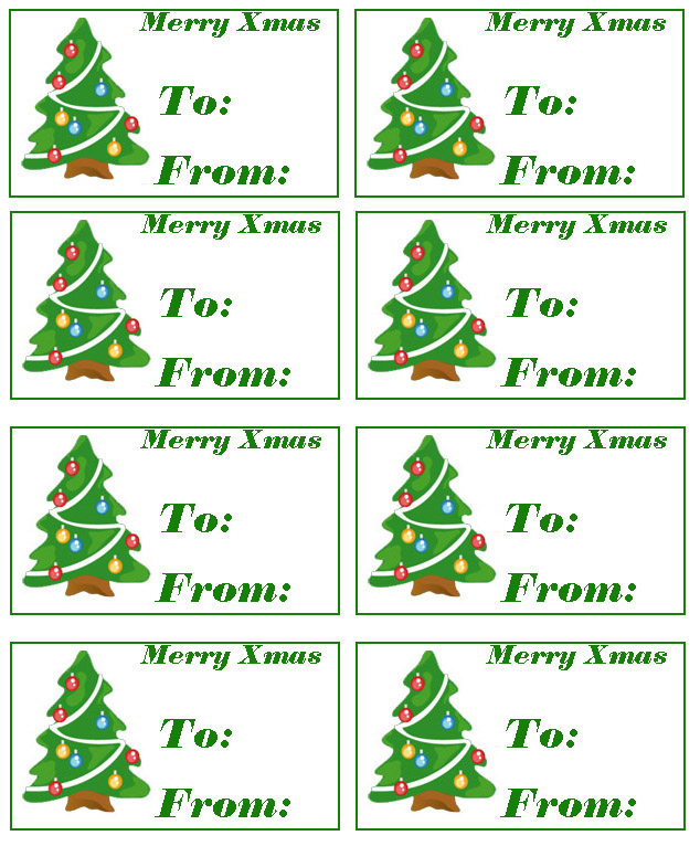 free printable christmas gift labels and gift tags to print