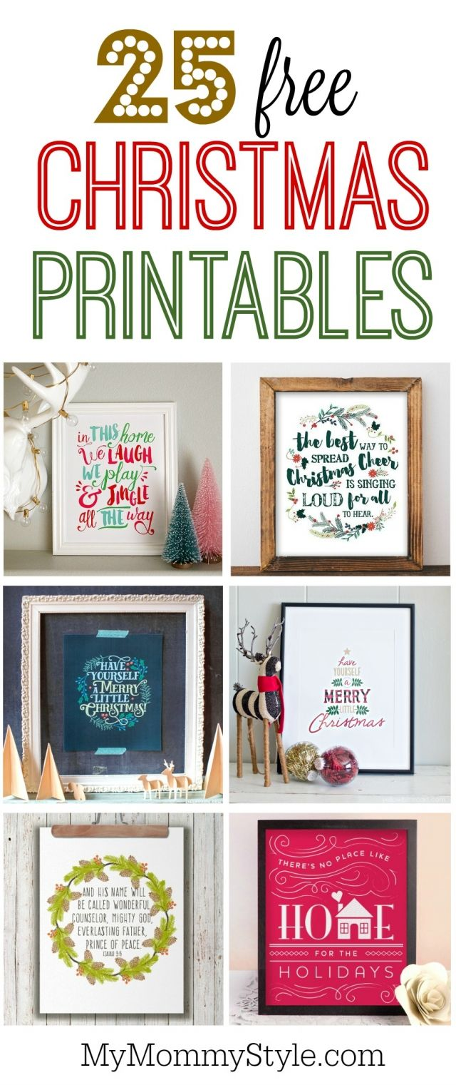 free printable christmas pages