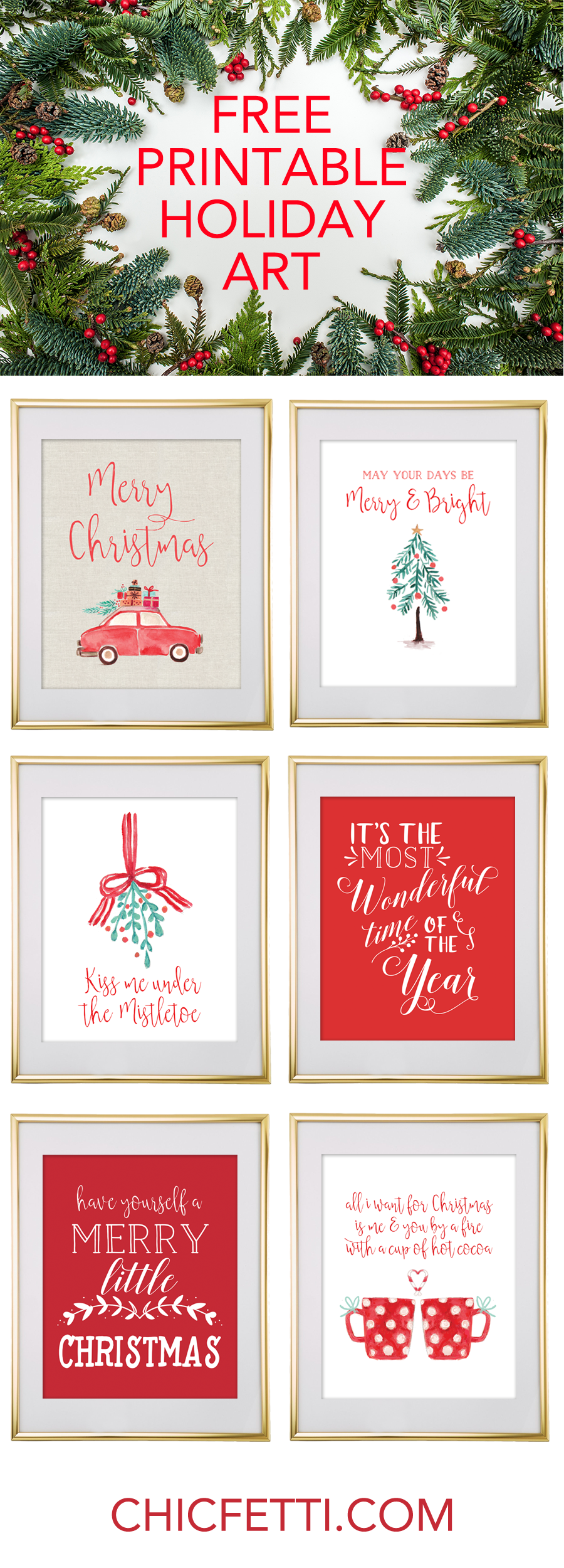 free printable christmas wall art
