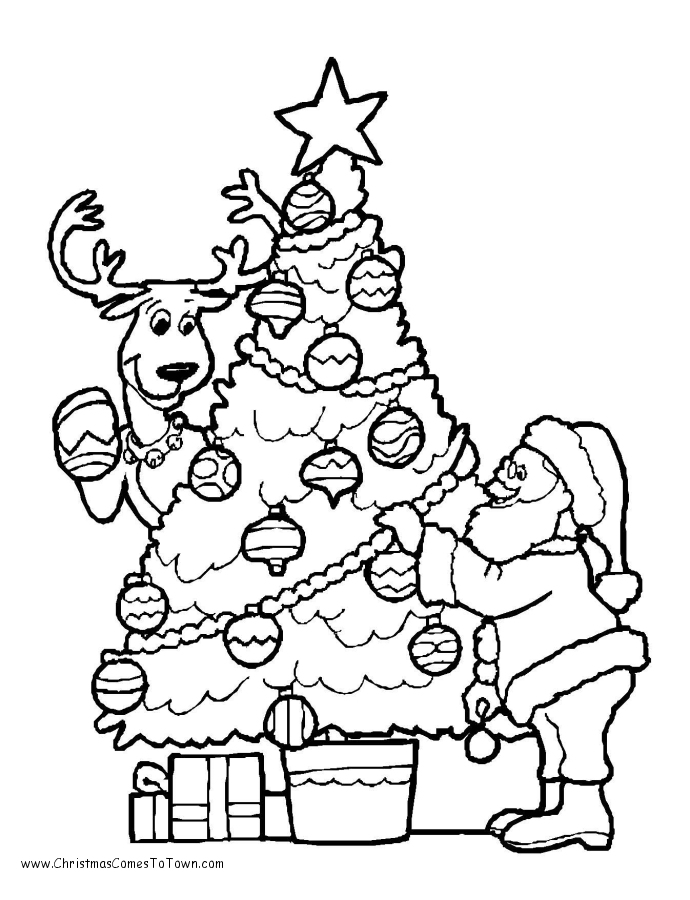 free printable colouring sheets christmas