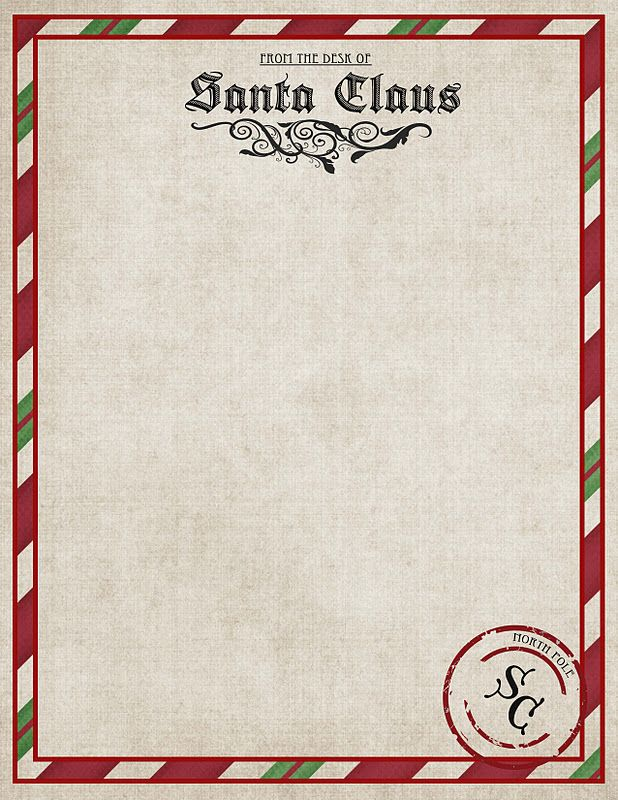 free printable letters from santa north pole