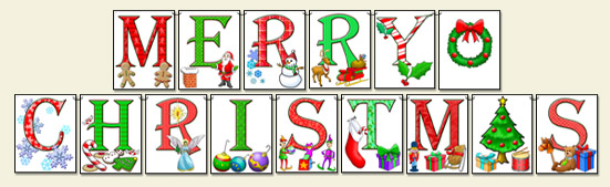 Fan image with merry christmas letters printable
