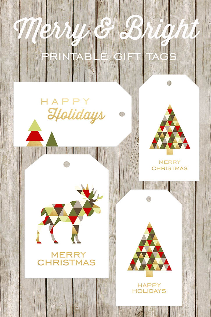 Free Printable Merry Christmas Tags Christmas Printables
