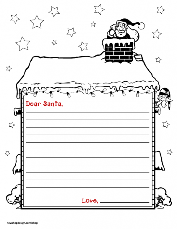free santa reply letters printable