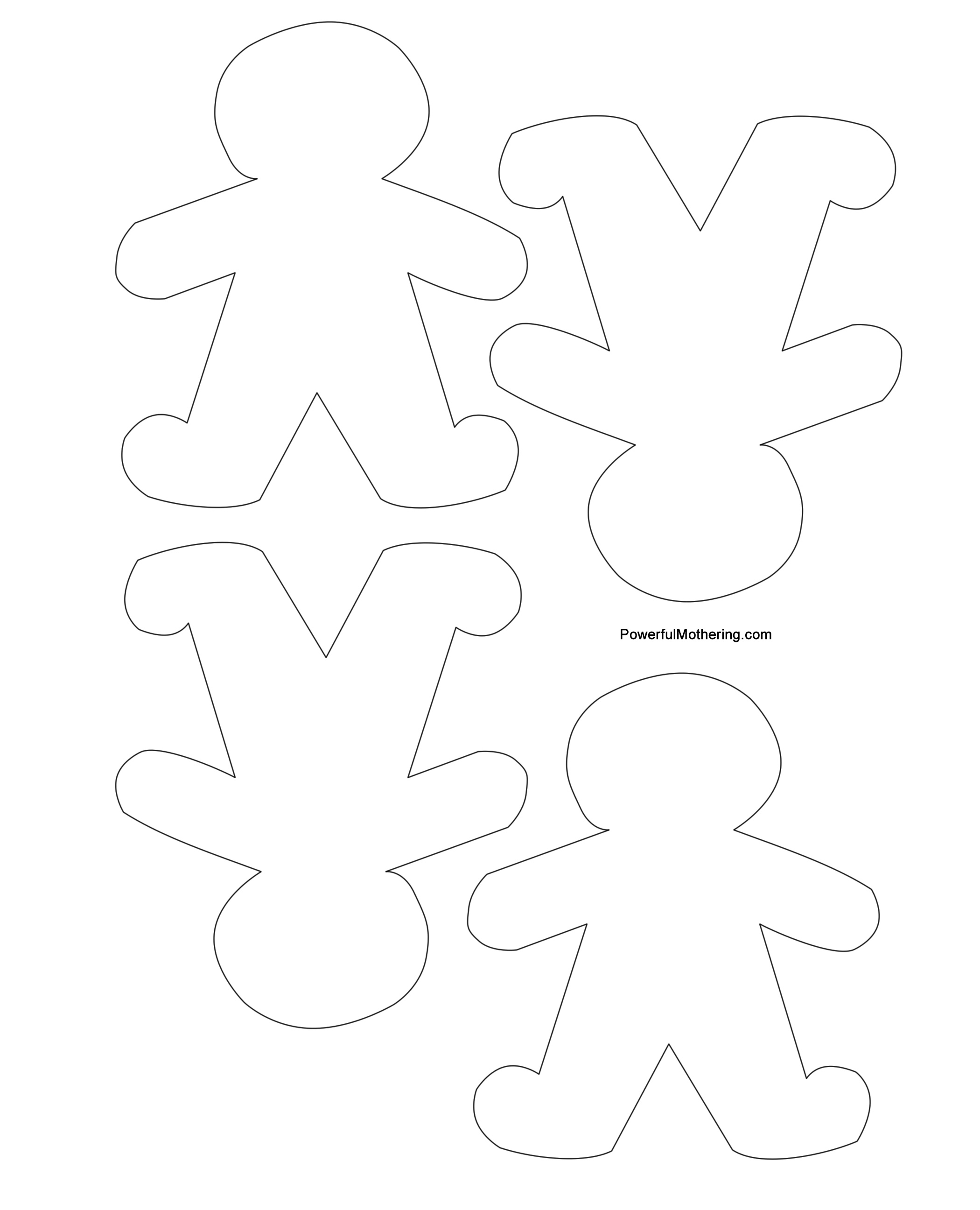 gingerbread man printables for christmas