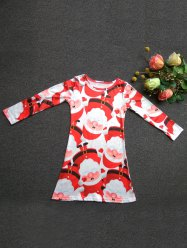 girls santa print dress