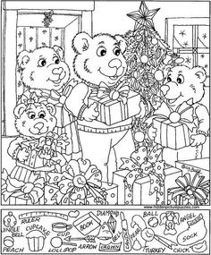 hidden picture printables for christmas