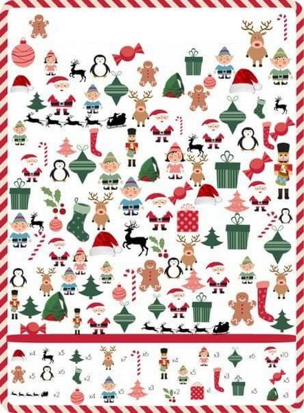 Hidden Picture Printables For Christmas Christmas Printables
