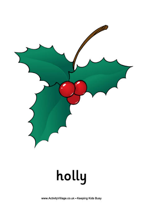 holly printables for christmas