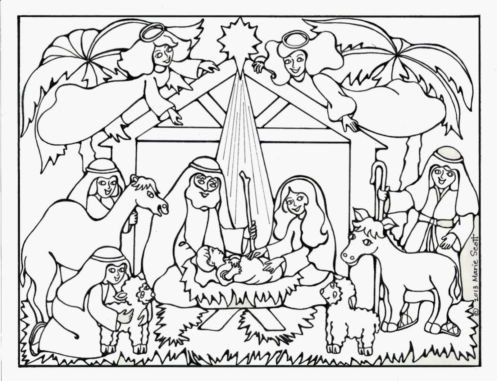 jesus printables for christmas