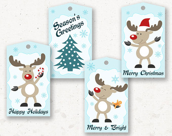 Christmas Gift Tags For Kids.Kids Christmas Tags Printable Christmas Printables
