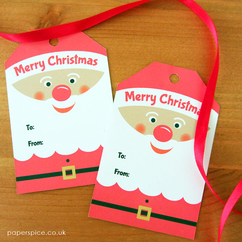 kids christmas tags printable