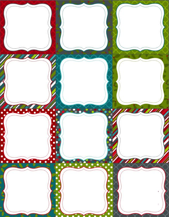 large christmas tags printable