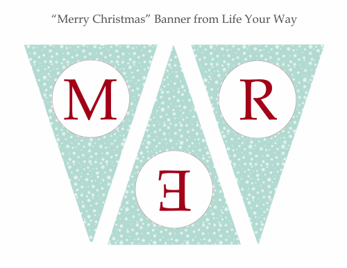 merry christmas banner printable