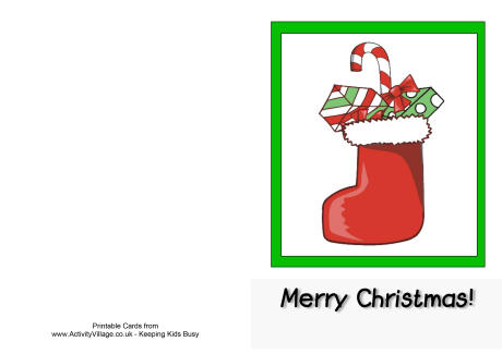 merry christmas card to print