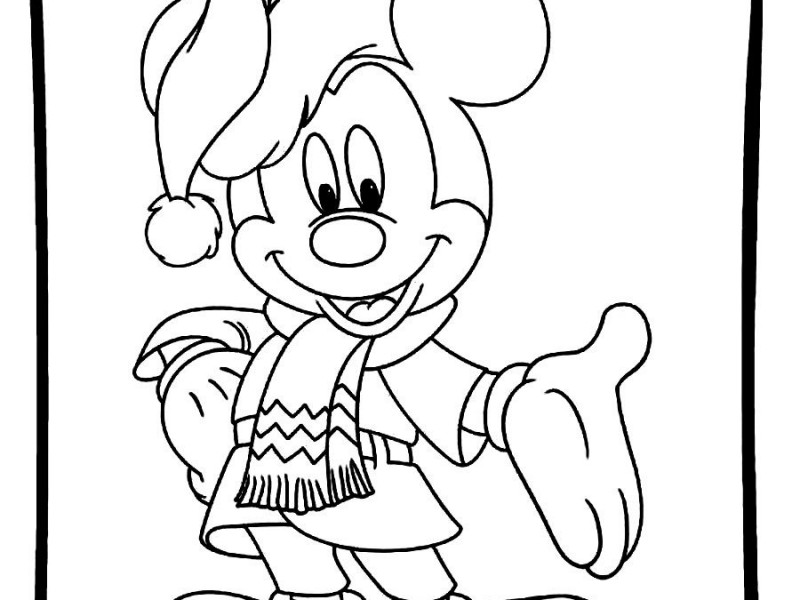 mickey mouse printables for christmas