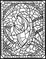 mosaic printables for christmas