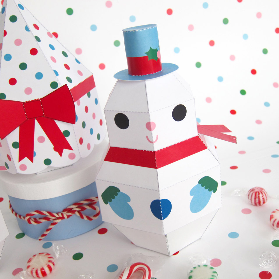 paper craft printables for christmas