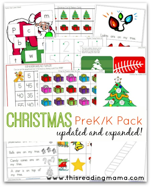 pre k printables for christmas