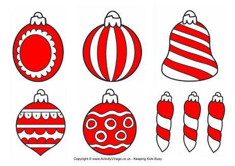 print out christmas decorations