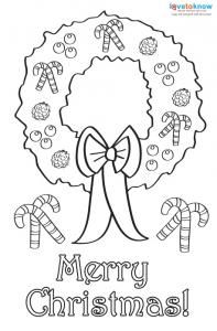 printable childrens christmas cards to color