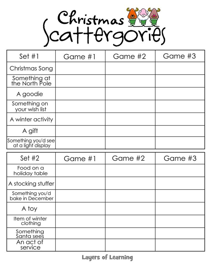 printable christmas activities kids