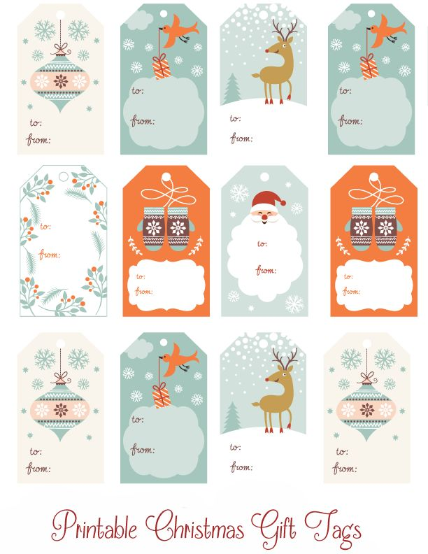 printable christmas cards for presents