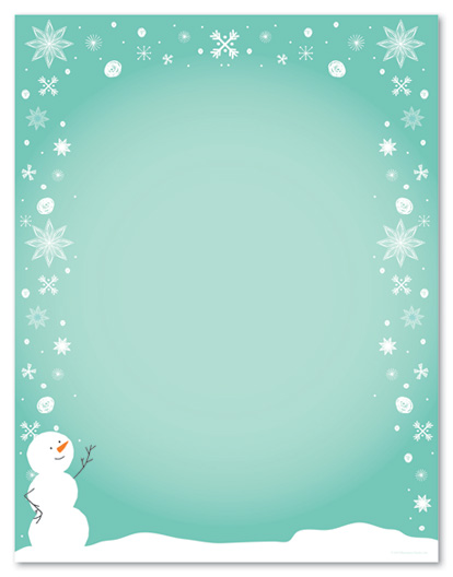 image relating to Printable Christmas Letterhead named printable xmas stationary -