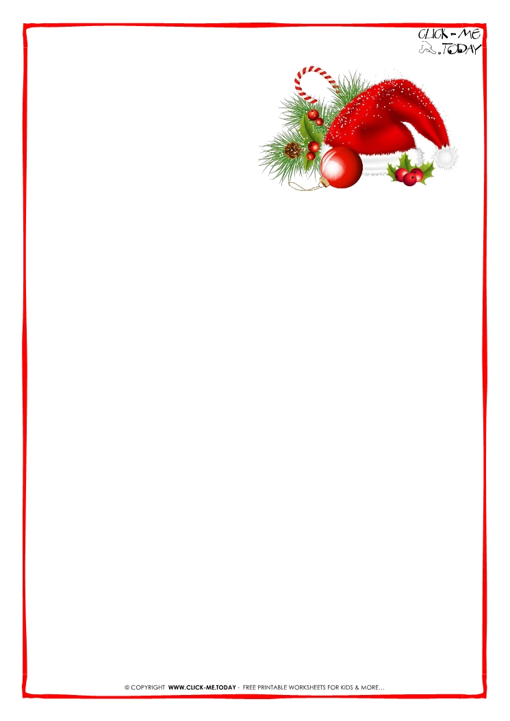 printable christmas letter paper