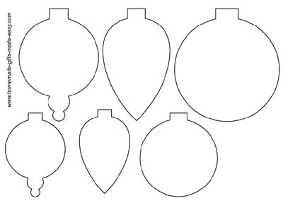 ... printable christmas ornament templates