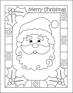 printable coloring cards for christmas