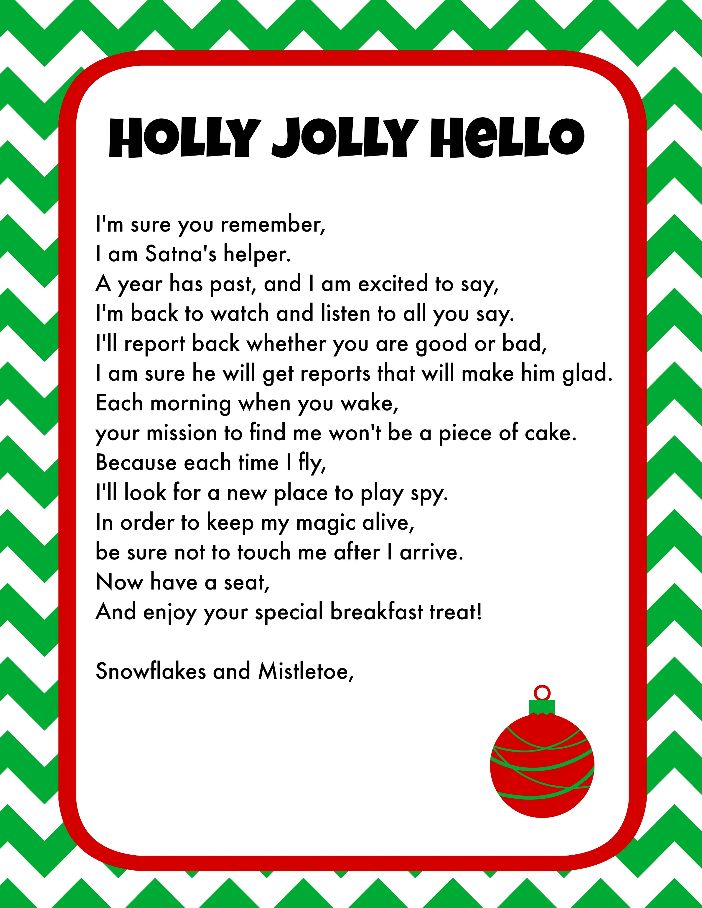 printable elf welcome letter