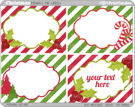 printable free christmas labels