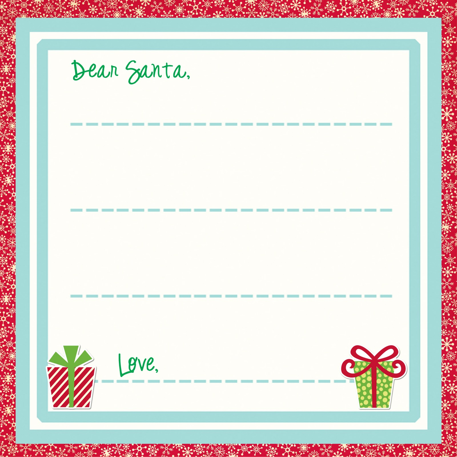 printable letters to santa claus template