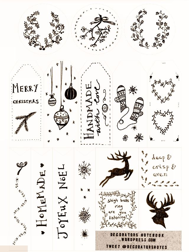 rustic printables for christmas