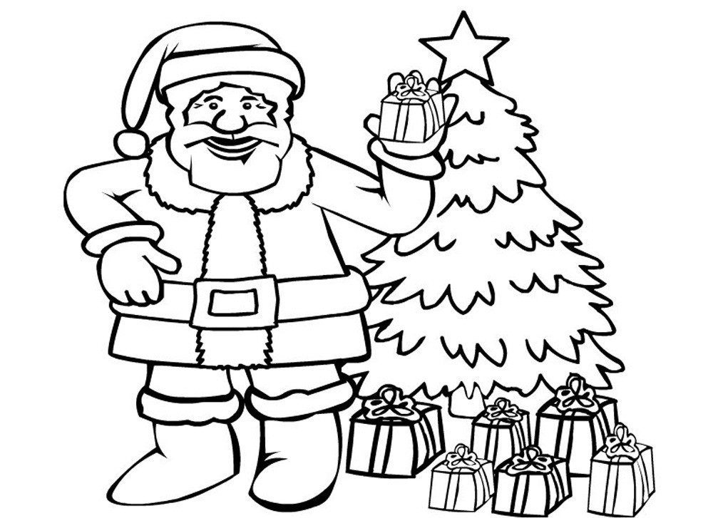 santa claus pictures to print