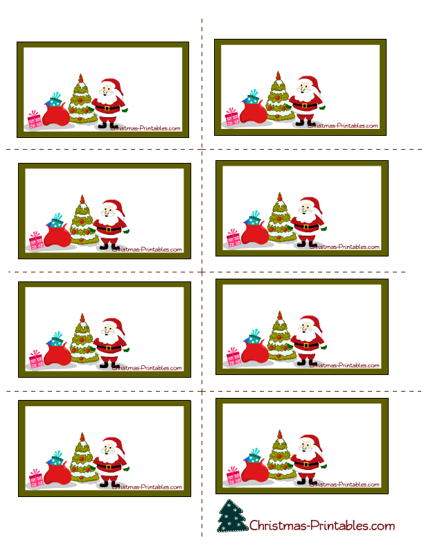 santa labels printable