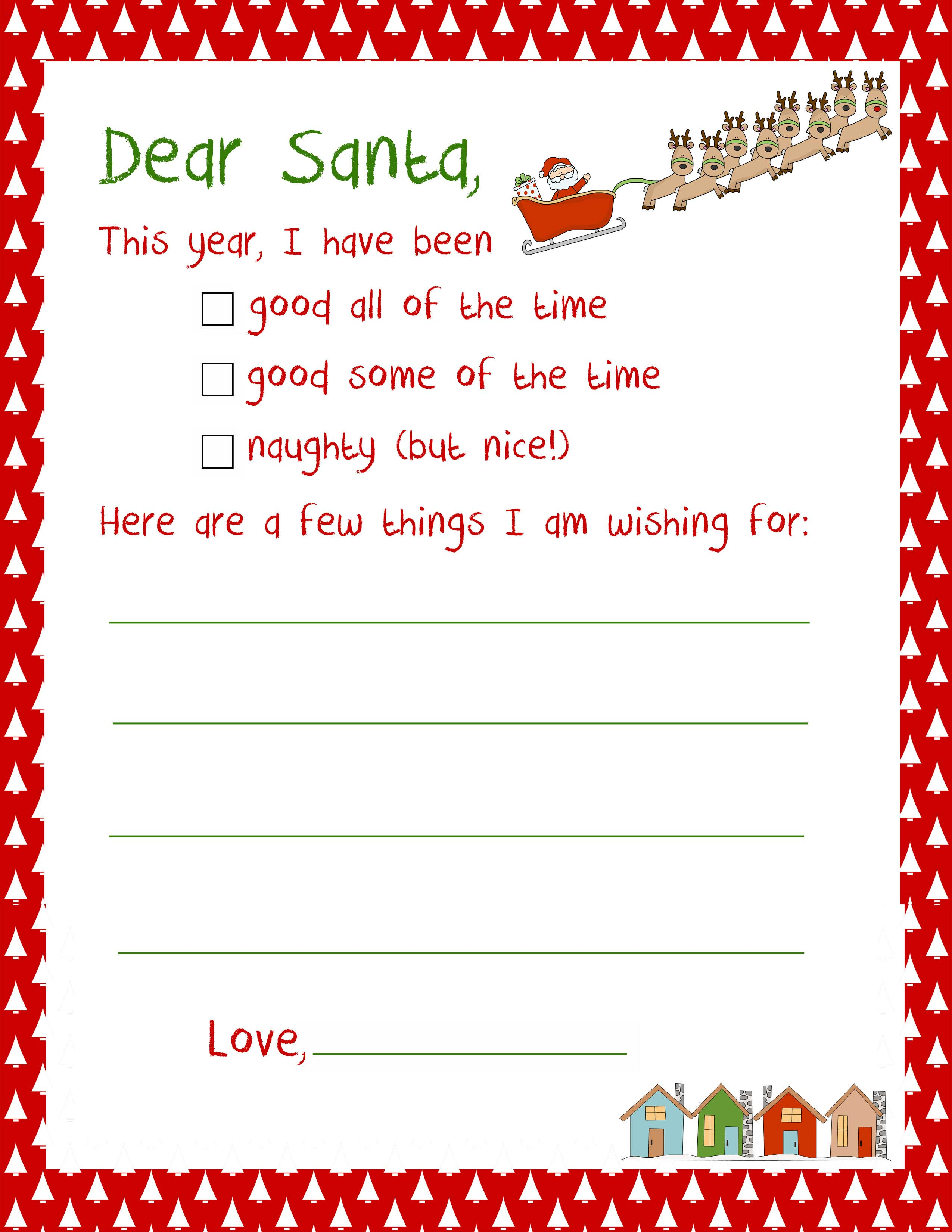 santa letters to print
