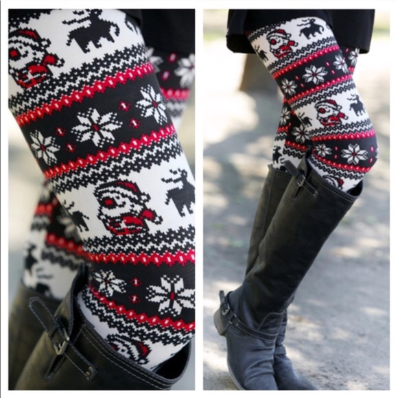 santa print leggings