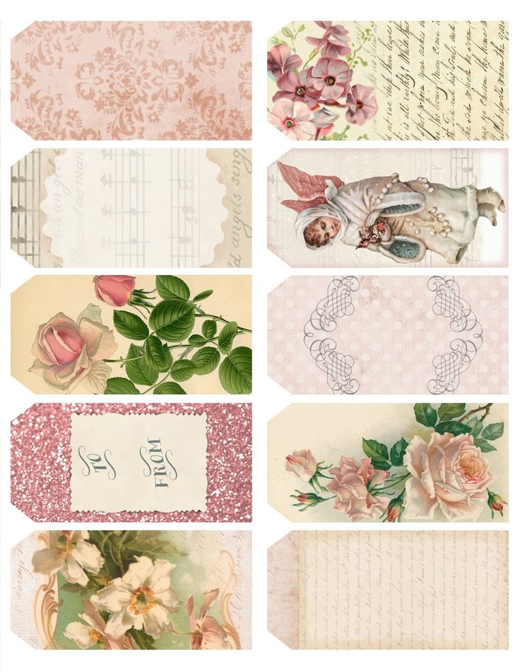 shabby chic printables for christmas