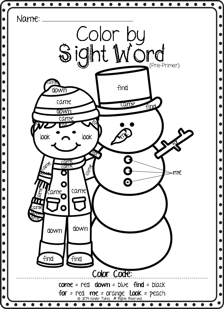 Sight Word Printables For Christmas Christmas Printables