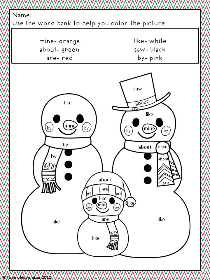 picture about Color by Sight Word Printable named Sight Term Printables For Xmas - Xmas Printables
