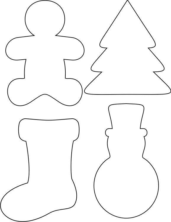 stencil printables for christmas