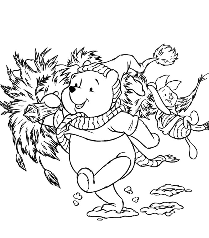 winnie the pooh printables for christmas