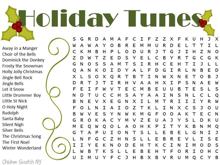 word search printables for christmas
